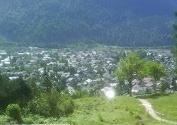 Sicht auf Mittenwald vom Panorramaweg P Kranzbergsessellift - Lautersee